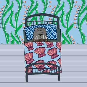 quilt block: dream sea otter