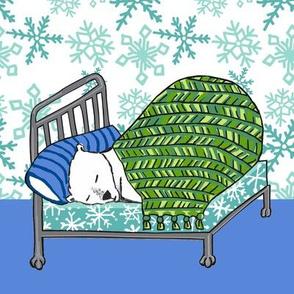 quilt block: dream polar bear