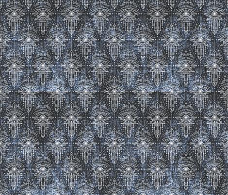 zodiac_eye_midnight sacred geometric fabric by holli_zollinger on Spoonflower - custom fabric