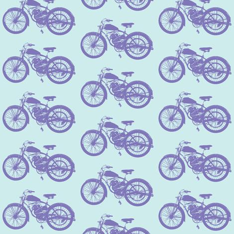 Purple Vintage Motorbikes fabric by thinlinetextiles on Spoonflower - custom fabric