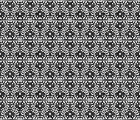 zodiac_magic_eye_dark charcoal textured fabric by holli_zollinger on Spoonflower - custom fabric