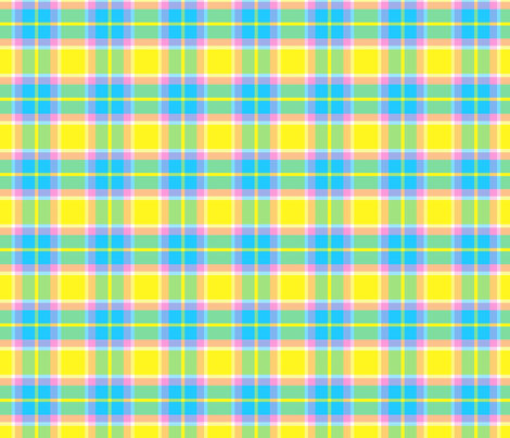 Spring Pastels Colorway - Plaid #1 fabric by december_rose on Spoonflower - custom fabric