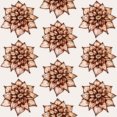 Pyrography Flower fabric by kelly_korver on Spoonflower - custom fabric