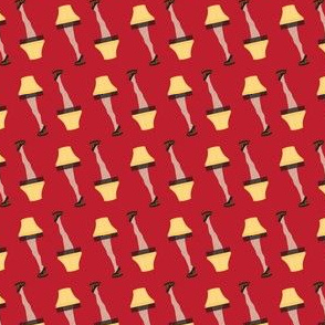 Christmas Retro Leg Lamp on Red
