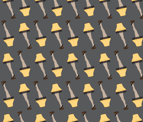 Christmas Retro Leg Lamp fabric by furbuddy on Spoonflower - custom fabric