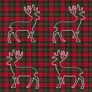 Reindeer in Plaid