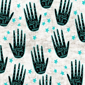zodiac_palms_turquoise textured