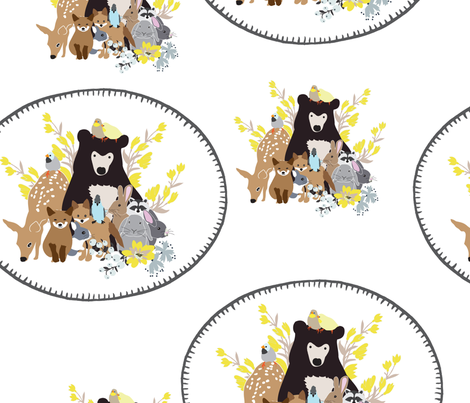 Woodland Family  fabric by vieiragirl on Spoonflower - custom fabric