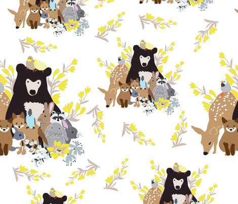 woodland family 2 fabric by vieiragirl on Spoonflower - custom fabric