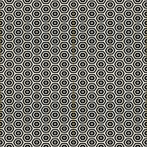 Black Hex Geometric fabric by joanmclemore on Spoonflower - custom fabric