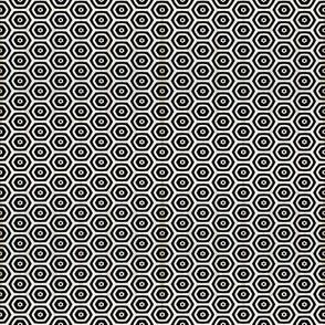Black Hex Geometric