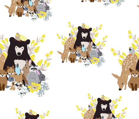 woodland family 3 fabric by vieiragirl on Spoonflower - custom fabric