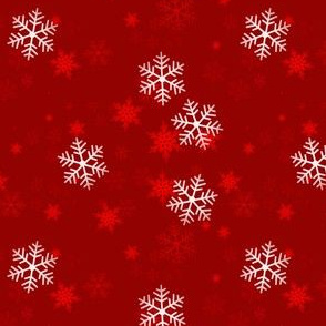 Snowflake Wrapping Paper - red