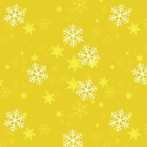 Snowflake Wrapping Paper - Yellow