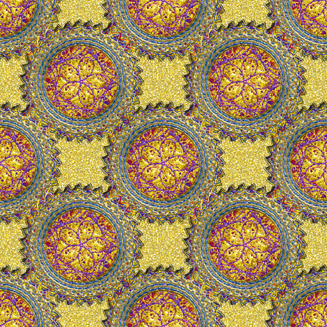 Sparkly Yellow and Gold colored Dots fabric by eclectic_house on Spoonflower - custom fabric