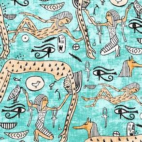 zodiac_ankh_turquoise hieroglyphs