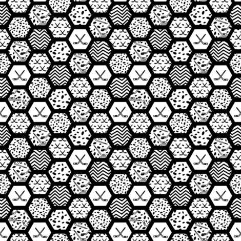 hockey hex small fabric by pamelachi on Spoonflower - custom fabric