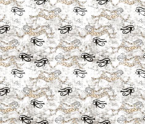 zodiac_pharoah_copper black and white fabric by holli_zollinger on Spoonflower - custom fabric