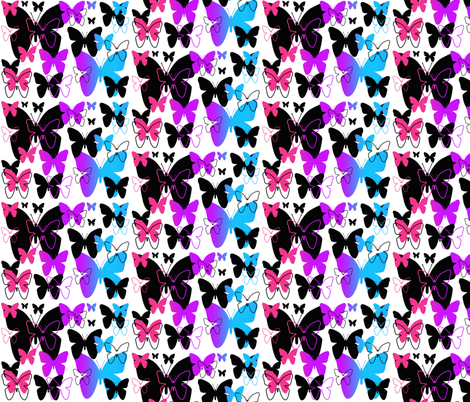 Rainbow Butterfly Abstract Design fabric by decamp_studios on Spoonflower - custom fabric