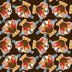 Thanksgiving Funny Gobble Gobble Turkey
