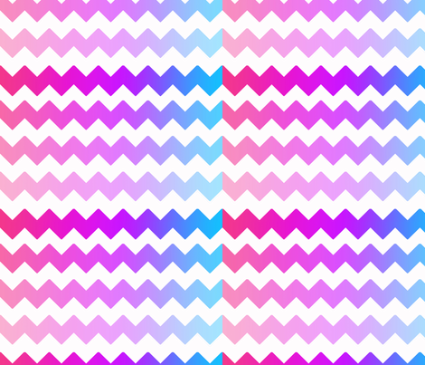 Rainbow Ombre Chevron fabric by decamp_studios on Spoonflower - custom fabric