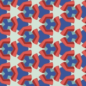 Red and Blue Geometric