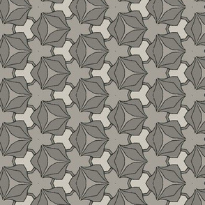 Small Scale Grey Floral