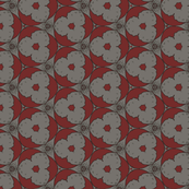Red and Gray Abstract Circles
