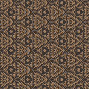 Unusual Geometric in Tan and Dark Blue