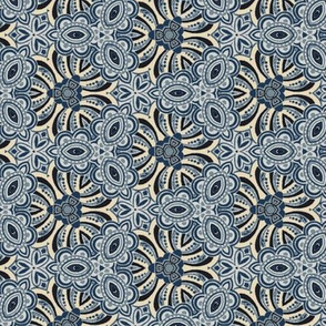Funky Floral in Shades of Blue