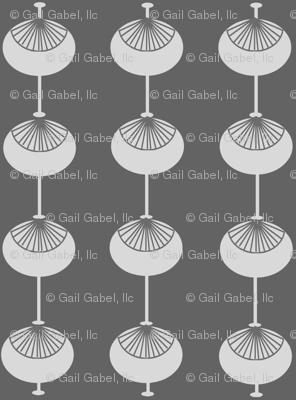 Mid-Century Modern Bulbs Grey