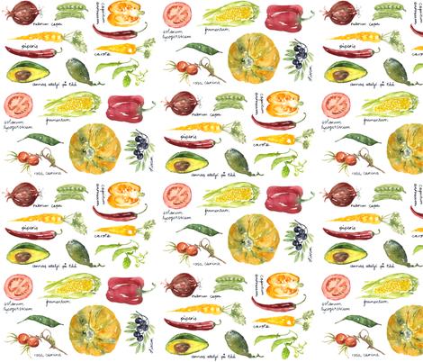 Annas Vegetable Market fabric by annahedeklint on Spoonflower - custom fabric