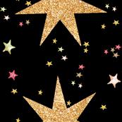Christmas Stars (Black)