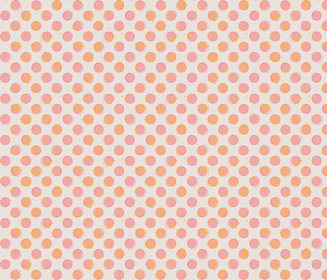 Pois Fous - Pink fabric by labeletterose on Spoonflower - custom fabric