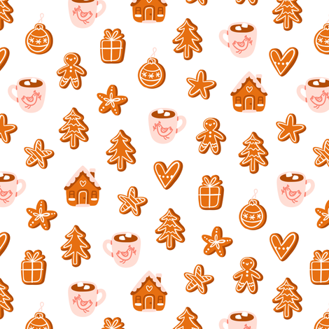 Gingerbread fabric by stolenpencil on Spoonflower - custom fabric