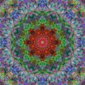 Mandala 2 red green
