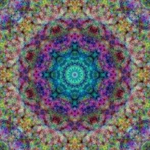 Mandala 2 turquoise purple