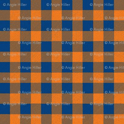 Orange and Blue Buffalo Plaid