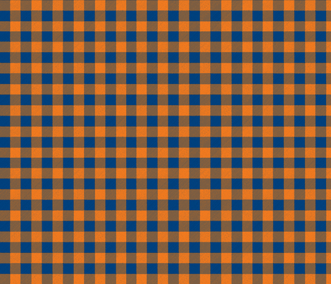 Orange and Blue Buffalo Plaid fabric by angiehiller on Spoonflower - custom fabric