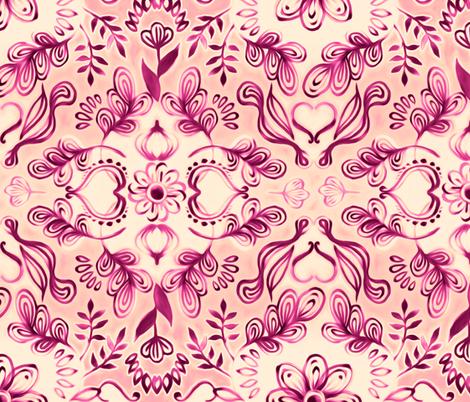 Island Dreams in Plum and Peach fabric by micklyn on Spoonflower - custom fabric