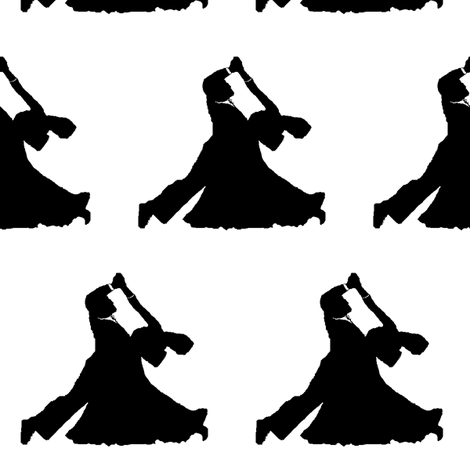 Ballroom Dancers // Large fabric by thinlinetextiles on Spoonflower - custom fabric