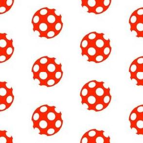 Holey Red Polka Dots