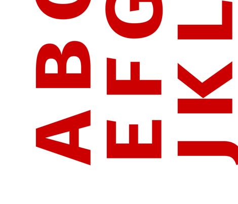 Alphabet Panel 1 Yard fabric by arrowandtheheart on Spoonflower - custom fabric