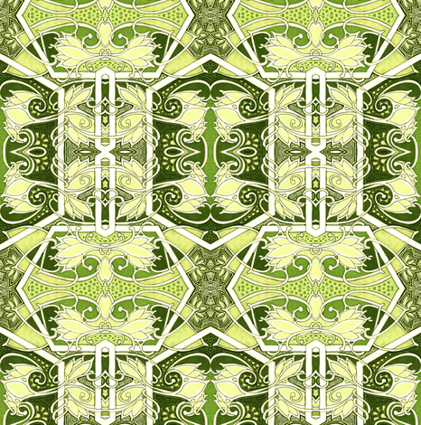 Weeds Amid the Dragon Skins fabric by edsel2084 on Spoonflower - custom fabric
