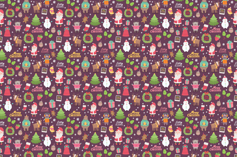 Christmas 2016 pattern 2 fabric by kostolom3000 on Spoonflower - custom fabric