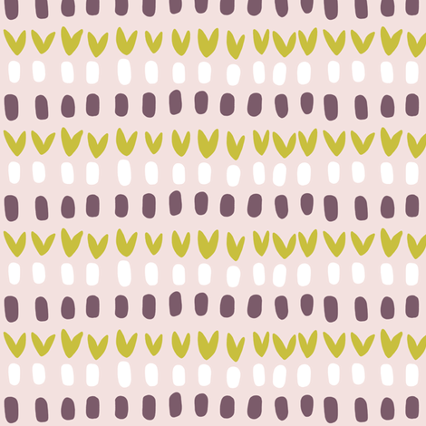 Roadside dots pink fabric by lburleighdesigns on Spoonflower - custom fabric