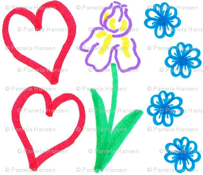 flower and heart
