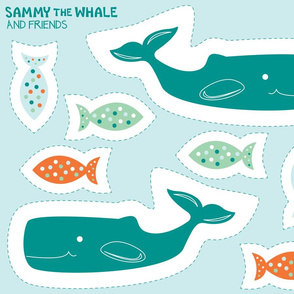 Cut and Sew:  Sammy the Whale Seaside