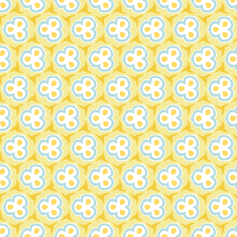 Lila yellow blue fabric by luna_bella on Spoonflower - custom fabric