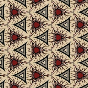 Spikey Triangles in Red and Gray
